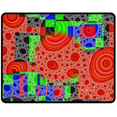 Background With Fractal Digital Cubist Drawing Double Sided Fleece Blanket (medium)