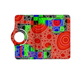 Background With Fractal Digital Cubist Drawing Kindle Fire HD (2013) Flip 360 Case