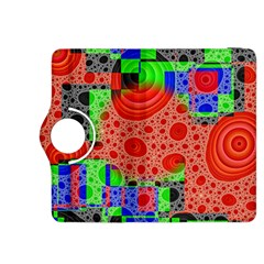 Background With Fractal Digital Cubist Drawing Kindle Fire HDX 8.9  Flip 360 Case