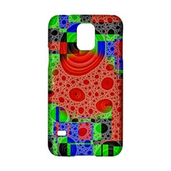 Background With Fractal Digital Cubist Drawing Samsung Galaxy S5 Hardshell Case