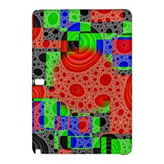 Background With Fractal Digital Cubist Drawing Samsung Galaxy Tab Pro 12.2 Hardshell Case
