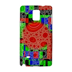 Background With Fractal Digital Cubist Drawing Samsung Galaxy Note 4 Hardshell Case