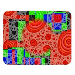 Background With Fractal Digital Cubist Drawing Double Sided Flano Blanket (large)