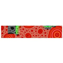 Background With Fractal Digital Cubist Drawing Flano Scarf (Small)