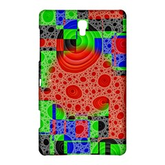 Background With Fractal Digital Cubist Drawing Samsung Galaxy Tab S (8 4 ) Hardshell Case