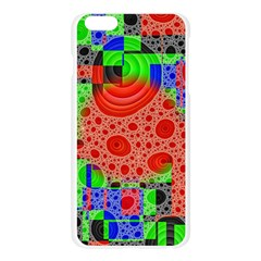 Background With Fractal Digital Cubist Drawing Apple Seamless iPhone 6 Plus/6S Plus Case (Transparent)