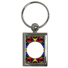 Symmetric Fractal Snake Frame Key Chains (Rectangle)