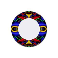 Symmetric Fractal Snake Frame Rubber Coaster (Round)
