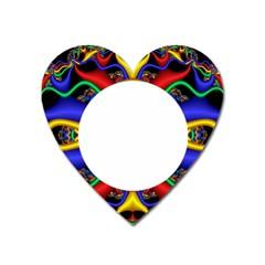 Symmetric Fractal Snake Frame Heart Magnet