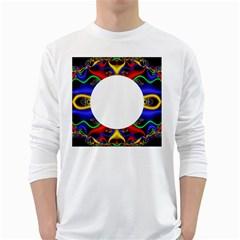 Symmetric Fractal Snake Frame White Long Sleeve T-Shirts