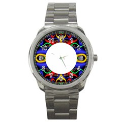 Symmetric Fractal Snake Frame Sport Metal Watch
