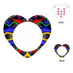 Symmetric Fractal Snake Frame Playing Cards (heart)