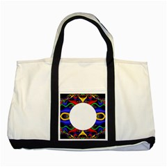 Symmetric Fractal Snake Frame Two Tone Tote Bag