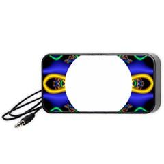 Symmetric Fractal Snake Frame Portable Speaker (black)