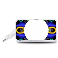 Symmetric Fractal Snake Frame Portable Speaker (White)