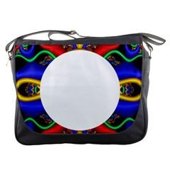 Symmetric Fractal Snake Frame Messenger Bags