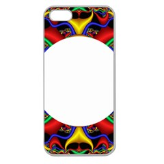Symmetric Fractal Snake Frame Apple Seamless iPhone 5 Case (Clear)