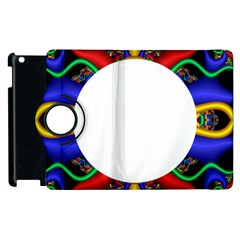 Symmetric Fractal Snake Frame Apple iPad 3/4 Flip 360 Case