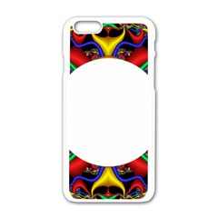 Symmetric Fractal Snake Frame Apple Iphone 6/6s White Enamel Case