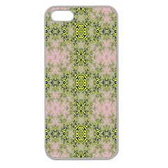 Digital Computer Graphic Seamless Wallpaper Apple Seamless Iphone 5 Case (clear)