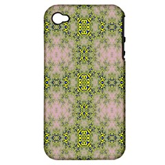 Digital Computer Graphic Seamless Wallpaper Apple iPhone 4/4S Hardshell Case (PC+Silicone)