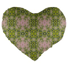 Digital Computer Graphic Seamless Wallpaper Large 19  Premium Heart Shape Cushions