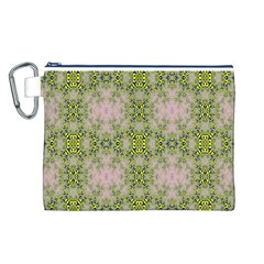Digital Computer Graphic Seamless Wallpaper Canvas Cosmetic Bag (l)