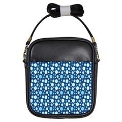 Polka Dot Blue Girls Sling Bags