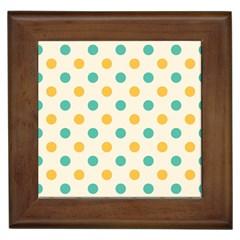 Polka Dot Yellow Green Blue Framed Tiles