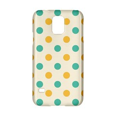 Polka Dot Yellow Green Blue Samsung Galaxy S5 Hardshell Case
