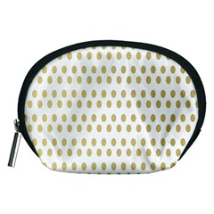 Polka Dots Gold Grey Accessory Pouches (medium)