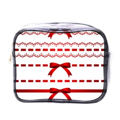 Ribbon Red Line Mini Toiletries Bags