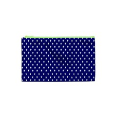 Rainbow Polka Dot Borders Colorful Resolution Wallpaper Blue Star Cosmetic Bag (xs)