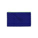 Rainbow Polka Dot Borders Colorful Resolution Wallpaper Blue Star Cosmetic Bag (XS) Front