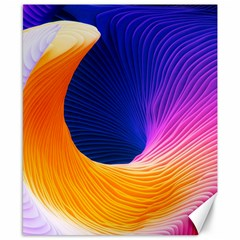 Wave Waves Chefron Color Blue Pink Orange White Red Purple Canvas 8  X 10