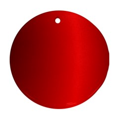 Red Gradient Fractal Backgroun Ornament (Round)