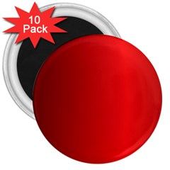 Red Gradient Fractal Backgroun 3  Magnets (10 Pack)