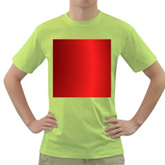 Red Gradient Fractal Backgroun Green T-Shirt