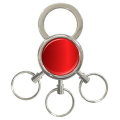Red Gradient Fractal Backgroun 3-Ring Key Chains