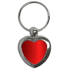 Red Gradient Fractal Backgroun Key Chains (heart)