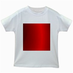 Red Gradient Fractal Backgroun Kids White T Shirts