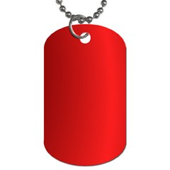 Red Gradient Fractal Backgroun Dog Tag (One Side)