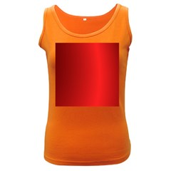 Red Gradient Fractal Backgroun Women s Dark Tank Top