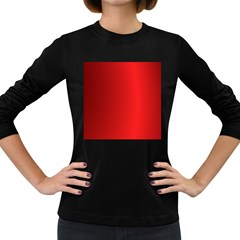 Red Gradient Fractal Backgroun Women s Long Sleeve Dark T-Shirts