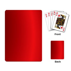 Red Gradient Fractal Backgroun Playing Card