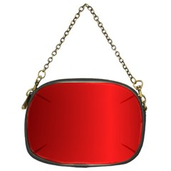 Red Gradient Fractal Backgroun Chain Purses (two Sides)