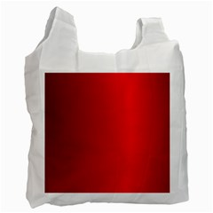 Red Gradient Fractal Backgroun Recycle Bag (one Side)