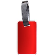 Red Gradient Fractal Backgroun Luggage Tags (two Sides)