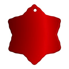 Red Gradient Fractal Backgroun Ornament (Snowflake)