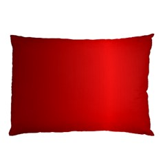 Red Gradient Fractal Backgroun Pillow Case (two Sides)